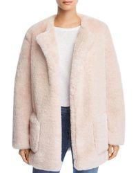 b83ed6bb74c0 Juicy Couture Leopard Print Faux Fur Trimmed Coat - Lyst