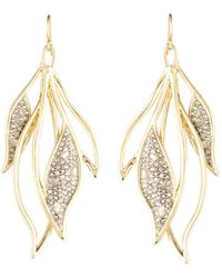 Alexis Bittar - Crystal Encrusted Feather Wire Earrings - Lyst