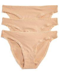On Gossamer - Cabana Cotton Stretch Hip Bikinis - Lyst