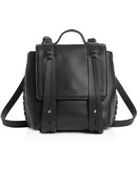 AllSaints - Fin Mini Leather Backpack - Lyst