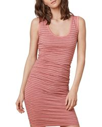 Velvet By Graham & Spencer - Genisa Striped Ruched Tank Dress - Lyst