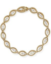 Roberto Coin | 18k White And Yellow Gold New Barocco Diamond Bracelet | Lyst