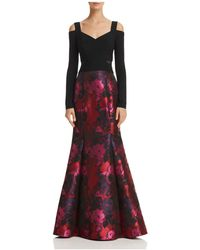 Betsy & Adam - Cold-shoulder Brocade Mermaid Gown - Lyst