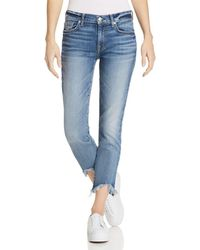 7 For All Mankind - Roxanne Ankle Straight Jeans In Canyon Ranch - Lyst