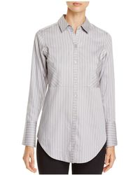 Foxcroft - Patrice Pinstripe Button Down Top - Lyst