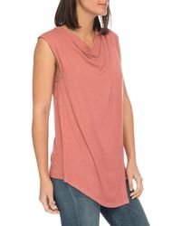 B Collection By Bobeau - Nevaeh Cowl Overlay Tank - Lyst