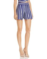 Alice + Olivia - Alice + Olivia Scarlet Pleated Striped Shorts - Lyst