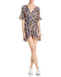 Lost + Wander - Lost + Wander Siesta Printed Faux-wrap Mini Dress - Lyst