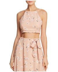 PPLA - Sophina Floral-print Cropped Top - Lyst