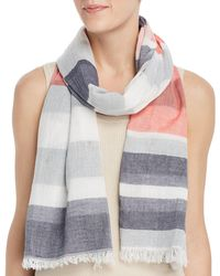 Fraas - Colour - Block Striped Scarf - Lyst