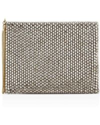 Reiss - Cindy Crystal-embellished Clutch - Lyst