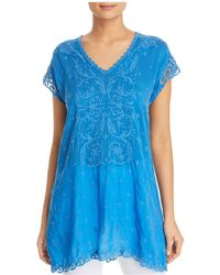 Johnny Was - Dani Embroidered Tunic Top - Lyst