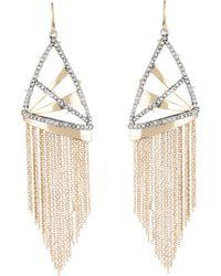 Alexis Bittar - Chain Fringe Drop Earrings - Lyst