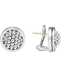 """Lagos - Sterling Silver """"caviar"""" Button Earrings - Lyst"""