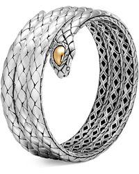 John Hardy - 18k Yellow Gold And Sterling Silver Legends Cobra Triple Coil Bracelet - Lyst