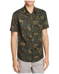 Blank NYC - Floral Print Linen Slim Fit Button-down Shirt - Lyst