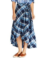 Ralph Lauren - Lauren Ruffled High/low Midi Skirt - Lyst