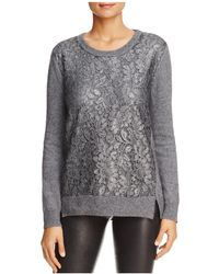 Foxcroft - Pixie Lace Front Sweater - Lyst