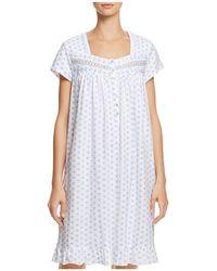 Eileen West - Floral Short Gown - Lyst
