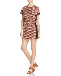 Scotch & Soda - Geometric Diamond-print Dress - Lyst