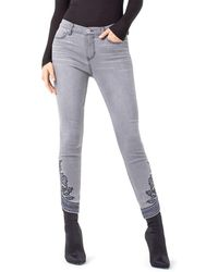 Liverpool Jeans Company - Kayden Ankle Scallop Hem Embroidery - Lyst