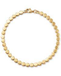 Moon & Meadow - 14k Yellow Gold Beaded Disc Bracelet - Lyst