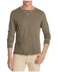 Billy Reid - Dylan Microstripe Long Sleeve Tee - Lyst