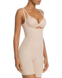Spanx - Thinstincts Open-bust Mid-thigh Bodysuit - Lyst