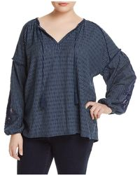 Lucky Brand - Crochet-inset Peasant Top - Lyst