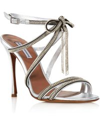 95abfd39abb Tabitha Simmons - Women s Iceley Rhinestone Bow High-heel Sandals - Lyst