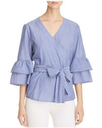 Beach Lunch Lounge - Bell Sleeve Wrap Top - Lyst