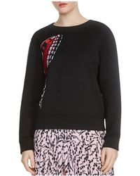 Maje   Theophile Butterfly Embroidered Sweatshirt   Lyst