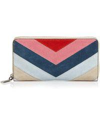 Rebecca Minkoff - Leather Continental Zip Wallet - Lyst