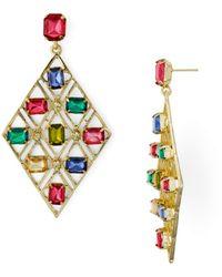 Aqua - Multicolor Lattice Drop Earrings - Lyst