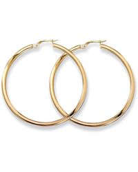 Roberto Coin - Medium 18k Yellow Gold Hoop Earrings - Lyst