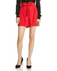 Maje - Iona High-waist Shorts - Lyst