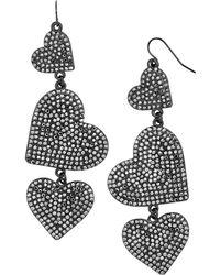 BaubleBar - Serenity Heart Drop Earrings - Lyst