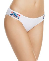 Red Carter - Side Tab Woven Bikini Bottom - Lyst