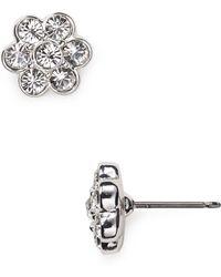 Carolee - Floral Stud Earrings - Lyst
