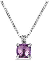 David Yurman - Châtelaine Pendant Necklace With Gemstone And Diamonds - Lyst