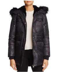 Jocelyn | Star Nylon Fur Trim Cargo Down Coat | Lyst