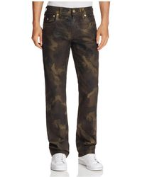True Religion - Ricky Rough Turf Relaxed Fit Jeans In Camouflage - Lyst