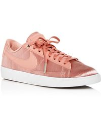 sports shoes 67430 52b23 Nike - Women s Blazer Embossed Satin   Leather Lace Up Sneakers - Lyst