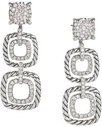 David Yurman - Chatelaine Full Pavé Diamond Triple Drop Earrings - Lyst