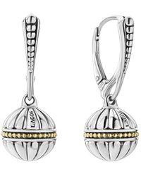 Lagos - 18k Gold & Sterling Silver Caviar Talisman Beaded Drop Earrings - Lyst