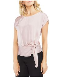 Vince Camuto - Buckle Detail Satin Top - Lyst