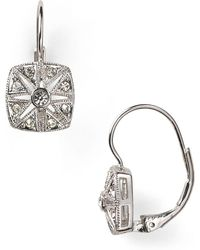 Nadri - Vintage Square Leverback Earrings - Lyst