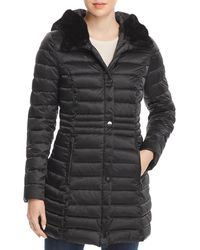 Laundry by Shelli Segal - Mercury Puffer Coat With Faux Fur - Trimmed Hood - Lyst