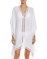 Tommy Bahama - Lace Trim Tunic Swim Cover-up - Lyst