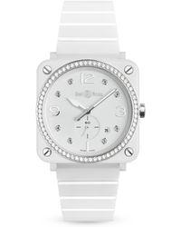 Bell & Ross - Br S Black Ceramic Diamond Watch - Lyst